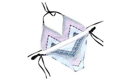 Likesky Women'S Triangle Halter Splicing Cloth Bikini Bathing Suits ce36a113-bcee-4c4e-b331-3a3a14c0371f