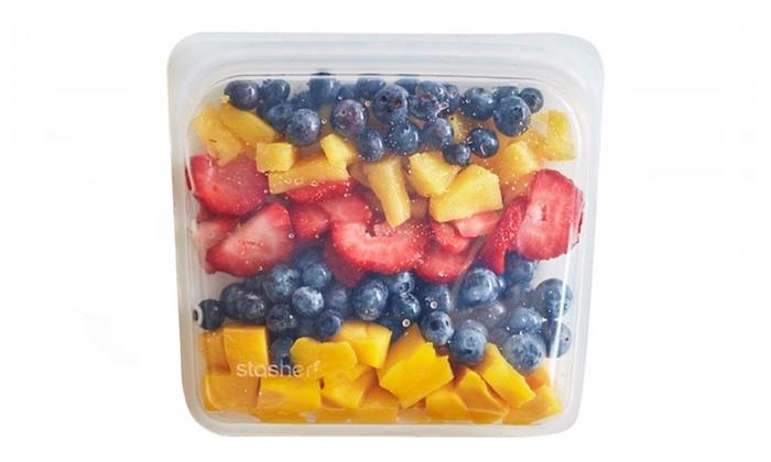 ce1940845a5d4 Stasher Reusable Silicone Food Bag, Sandwich Bag, Sous vide Bag, Clear