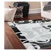 Savahome Anti Bacteria Rubber Back Doormat Nonskid Slip Rug Grey Black
