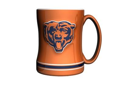 Chicago Bears Coffee Mug - 14oz Sculpted Relief - Orange photo