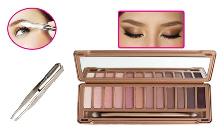 Perfect 12 Colors Eyeshadow Palette With Free Eyebrow Hair Removal 3cae6209-98b2-4b60-80d4-8ca1d50aec4d