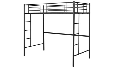Costway Twin Loft Bed Metal Bunk Ladder Beds Kids Bedroom Dorm