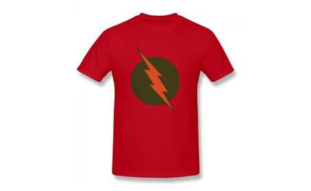 Reverse Flash Logo - Justice League Adult T-shirt Red d33b50d1-0efd-4377-8771-67f087cd8533