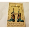 Hand Crafted Boot Earrings