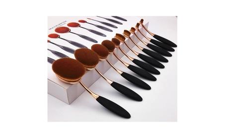 10 Oval makeup brush set 5113b998-8f3d-470d-816d-d29fda46353f