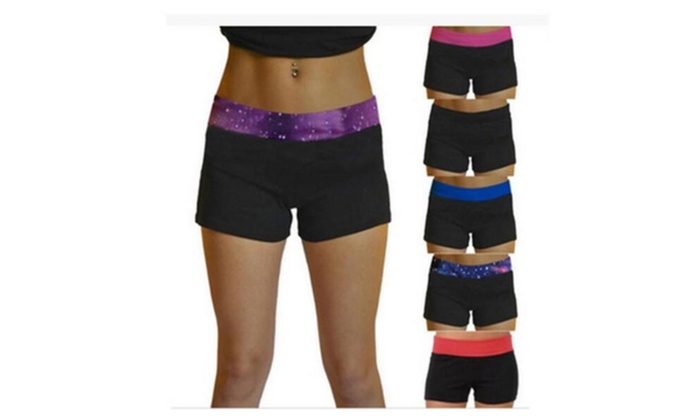 Fashion Women Lady Summer High Waist Sports Yoga Trousers Shorts