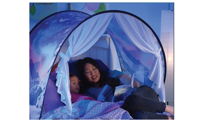 Pop Up Bed Tent Playhouse - Twin Size - DreamTents Kids  sc 1 st  Groupon : tent for a bed - memphite.com