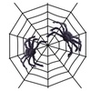 Fake Spider Web Black Halloween Decorations