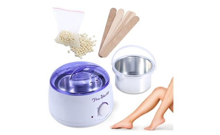 Spa Hair Removal Hot Wax Pot Heater Depilatory Machine + 5Pcs Spatulas 957706ea-2dae-4f2e-acef-bb4f369bb0ea