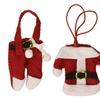 6Pcs Fancy Santa Christmas Decorations Silverware Holders Pockets