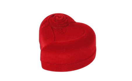 Heart-shaped Red Rose Jewelry Gift Box Case for Ring Earring b3189757-3739-42a9-9360-f468edb05ede