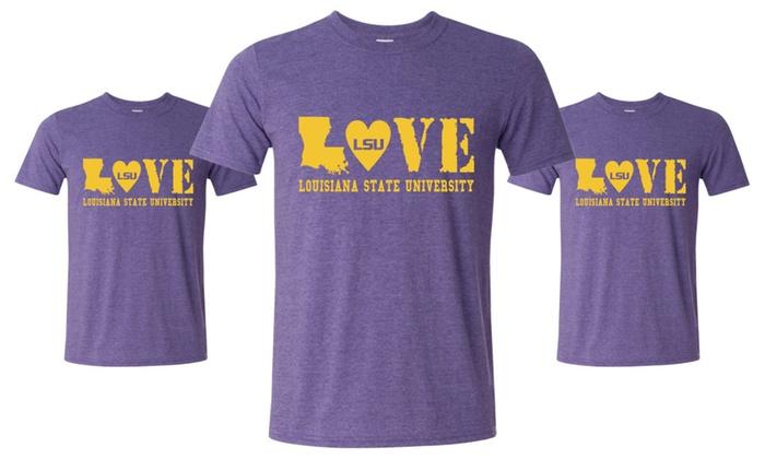 LSU Tigers LOVE Louisiana College T-Shirt