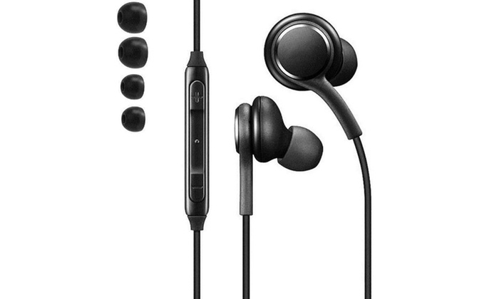 For Samsung S8 S9 Note 9 Tuned Premium In-Ear Headphones w/ In-Line Mic Ear  Buds