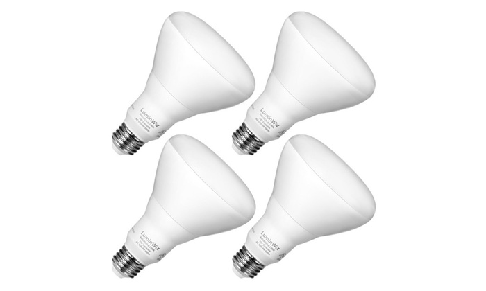 (Pack of 4) BR30 LED Bulbs, 9W 2700K 650lm Warm White