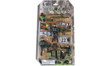 Click N Play Military Ranger Action Figure 18 Piece Accessory Play Set 64ceddc3-d4a9-4fd1-8666-c4ccfd5f831c
