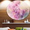 Twig of Lilac Flowers' Ultra Glossy Floral Metal Circle Wall Art