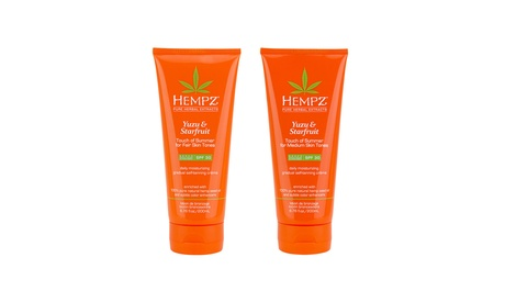 Hempz Yuzu & Starfruit Touch of Summer Moisturizing Self-Tanning Creme Lotion