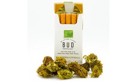 Lifted Living Bud HempCigs - 1200mg - Pack of 10