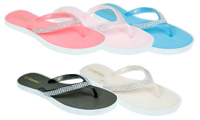 Women's Crystal Jelly Flip Flop