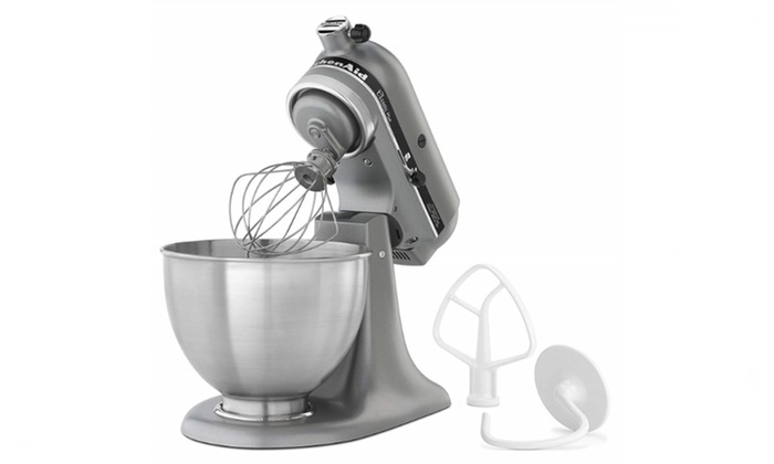 KitchenAid Classic Plus 4.5-Qt. Tilt-Head Stand Mixer, Silver