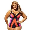 Women Plus Size One Piece Swimsuit Spaghetti Strap Backless Swimwear