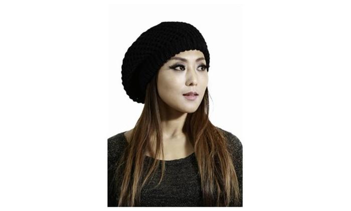 Womens Winter Knit Oversized Hat