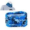 Zodaca Blue Camo Cycling Bike Sport Multi Head Scarf Magic Headband