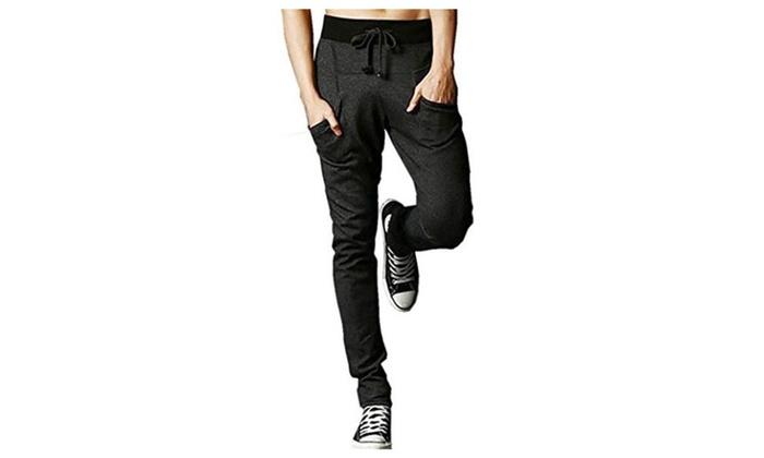 Cedon Men's Sarouel Stylish Casual Simple Sports Fitness Sweat Pants