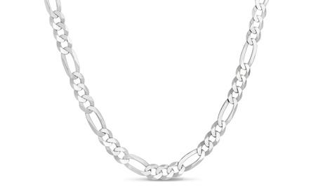 Sterling Silver Figaro 140 Gauge Chain b9927b26-ea75-4009-9187-1aa5925b689c