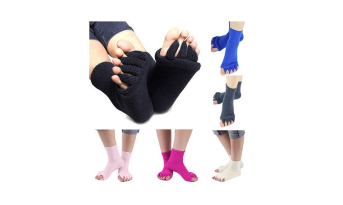 Yoga Gym Massage Five Toe Separator Socks Foot Alignment Socks Nimble