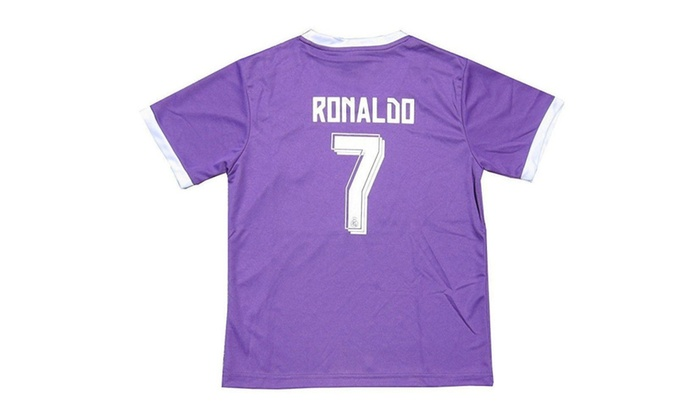 finest selection d5f1d 77ad7 Real Madrid Purple Kid Youth Cristiano Ronaldo Jersey Purple ...