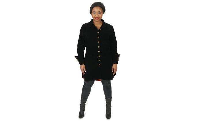 Velvet Pirate Jacket Adult Female Plus Costume