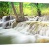 Level Five of Erawan Waterfall Landscape Metal Wall Art 28x12