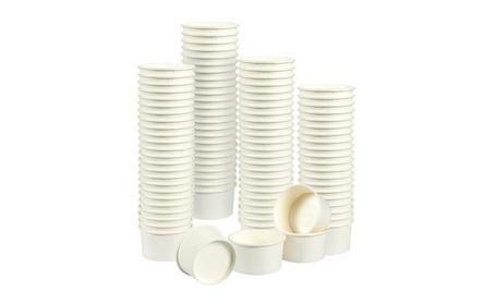Ice Cream Sundae Cups - 100-Pieces Disposable Paper Dessert Ice Cream 8dfc1ddf-8fb6-411e-b309-b671c1a7bc25