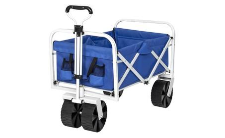 Folding Utility Wagon Cart w/ All-Terrain Wheels f5027ec5-5fb3-4974-9327-e9992f225f45