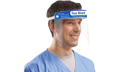 Safety Face Shield Full Protection Lightweight Headband w/ Clear Anti-Fog Lens