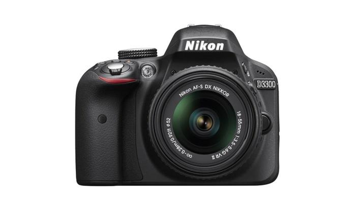 Nikon D3300 24.2MP 1080p SLR Camera w/ 18-55mm Lens Black Grey or Red