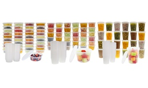 Meal Prep Food Storage Containers with Lids (48-, 72-, or 80-Piece)