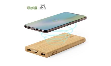 Batería auxiliar externa con carcasa de bambú Smartek