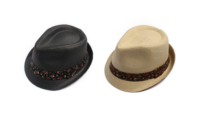 Floral Band Fedora