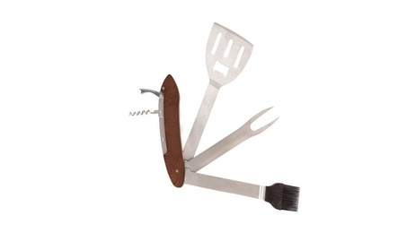 Outdoor Grilling Multi Tool Stainless Steel 5-in-1 BBQ 62109ae3-d1f4-4e7b-8e57-db25fc3c85b3