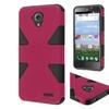 Insten Hard Dual Layer Skin Case For Zte Stratos Hot Pink/black