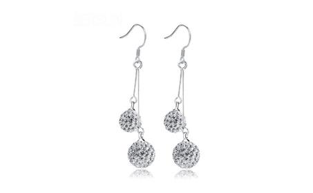 Crystal Ball Drop Earrings de6d4c70-3876-4c7e-af1f-c306e25d29b8