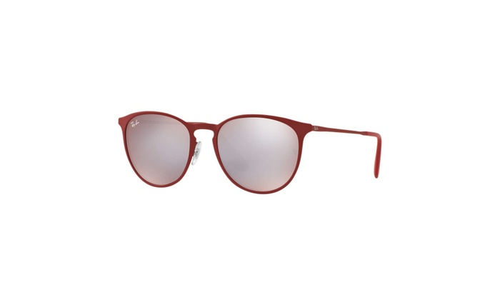 Ray-Ban Erika 54mm Sunglasses (Red Frames / Silver Flash Lenses)