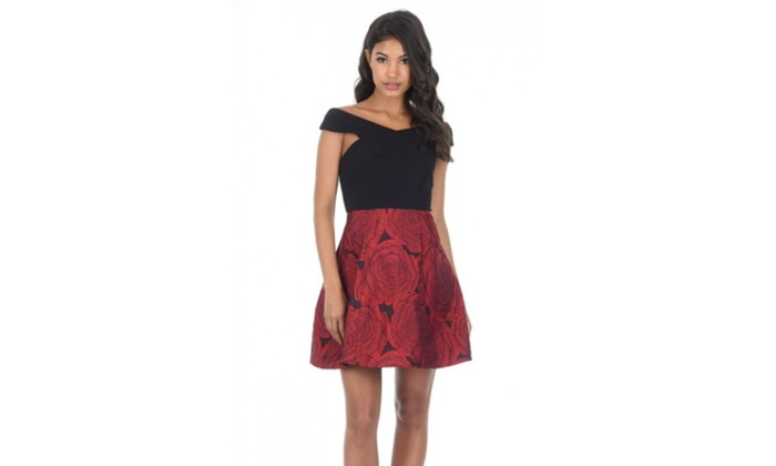 db1f1e65b9d8f Up To 25% Off on AX Paris Women's Black Red Co...   Groupon Goods