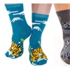 2 Pairs - V-Toe Flip Flop Tabi Socks Dragon & Tiger Style Asian Socks