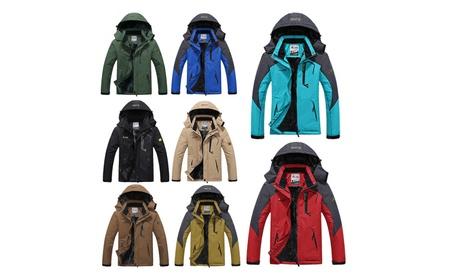 Men's Plus Size Windproof Winter Fleece Hooded Outdoor Jacket fd1d35fb-5a1e-4cf9-a9df-0e3e65151b2a