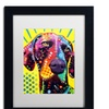 Dean Russo 'German Short Hair Pointer' Matted Framed Art