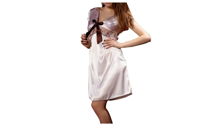 Women's Simple Hidden Zipper Fashion Sleeveless Nightdress