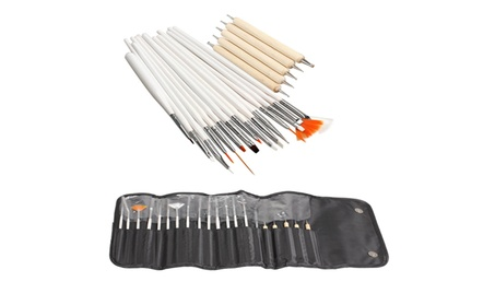Professional 20pc Nail Art BRUSH SET bc70f05b-e4ca-4fe7-9829-07a37650e7f3
